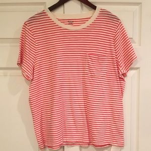 MADEWELL Red Striped Tee Shirt XXL